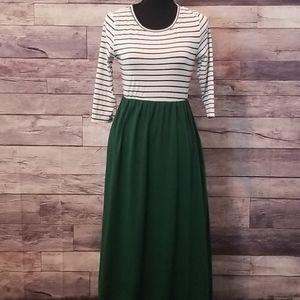 NEW! Fisoul Comfy Dark Green Maxi Dress